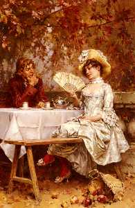 Tea in the garden, autumn