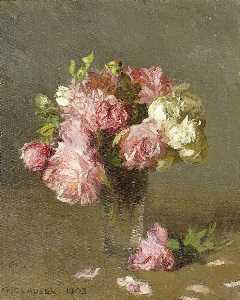 little white roses