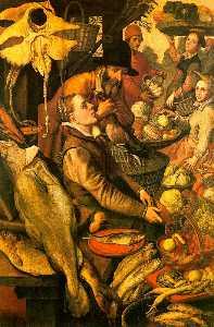 Market Scene, undated, oil on wood, Wallraf-Richartz