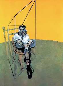 Three Studies of Lucian Freud, left
