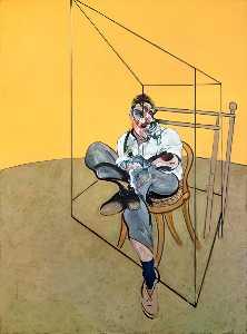 Three Studies of Lucian Freud, center