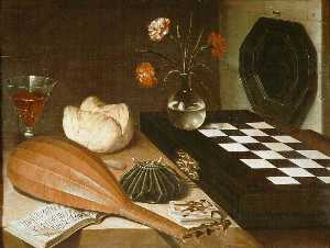 Still life with chessboard, c.1630, Louvre