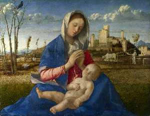 madonna of the meadow (madonna del prato), ng lon