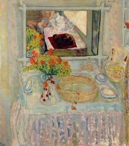 Toilette au bouquet rouge et jaune, Museum of