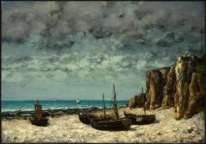 Boats on a Beach, Etretat, after NG Washington