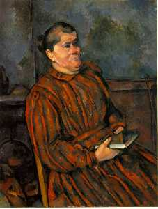 Woman in red-striped dress,1892-96, barnes foundatio