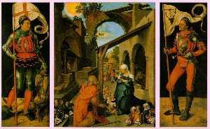 Le retable paumgartner , 1498-1504 , alte pinakothek ,