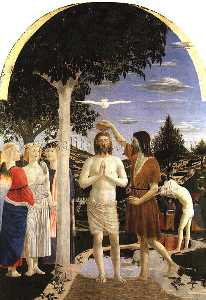 The baptism of Christ, approx.1442, NG LONDON