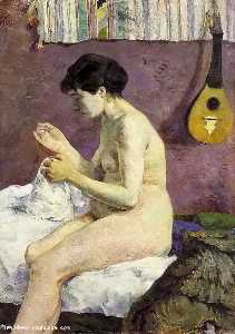 Study of a Nude (Suzanne Sewing), Ny Glyptotek