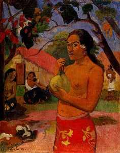 Woman holding a fruit, Eremitaget