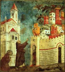The Devils Cast Out of Arezzo, before 1300, fresco, U