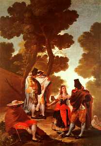 The Maja and the Masked Men, oil on canvas, Museo