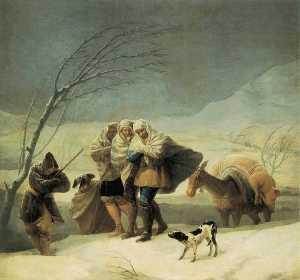 La nevicata. . Madrid, Museo del Prado.