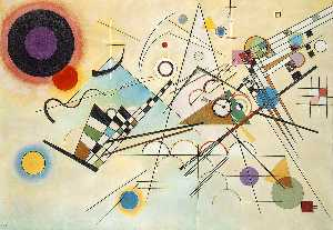 Composition VIII, oil on canvas, Solomon R.