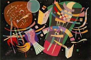 Composition X, oil on canvas, Kunstsammlung