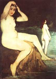 Bathers on the Seine, unfinished