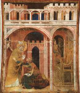 Miracle of Fire, approx. 1321, fresco, Lower Church