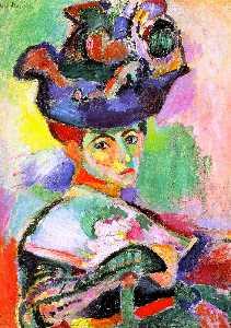 Frau au chapeau ( frau mit hut ) , öl auf canv