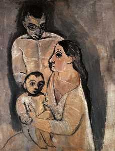 Homme,femme, et enfant