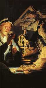 The Rich Old Man from the Parable, detail