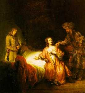Joseph accused by potiphar's wife ng washingt