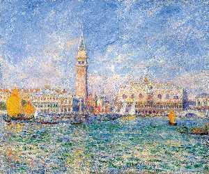 Doges' Palace, Venice, oil on canvas, Sterling