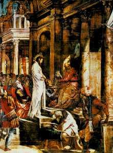 Christ before pilate, sala dell'albergo, scuola d