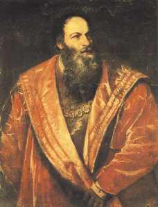 Portrait of pietro aretino, pitti