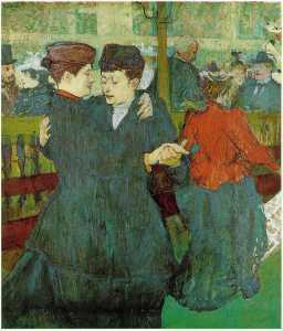 At the Moulin Rouge_ Two Women Waltzing, - (18)