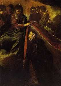 St. Ildefonso Receiving the Chasuble from the Virgin