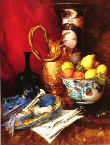 A Still Life with a Bowl of Fruit