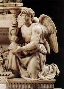 hasta ángel  enestado  candelero