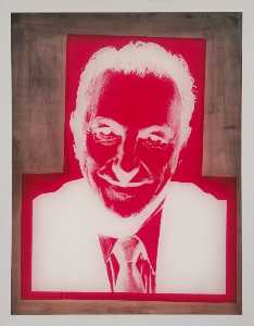 Silkscreen for Portrait of Sidney Janis