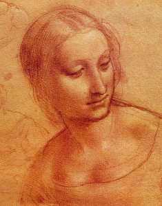 Head of a Woman, Drawing, Musée Bonnat, Bayonne