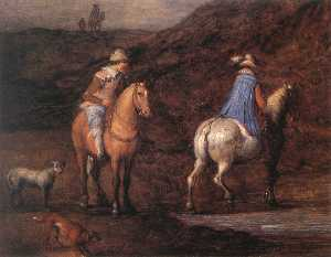 Travellers on the Way (detail)