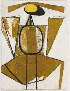Personage, with Yellow Ochre and White