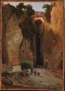 Entrance to the Grotto of Posilipo (prob. ca. (1821-25))