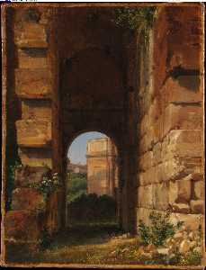The Arch of Constantine Seen from the Colosseum (1818 - (1838))