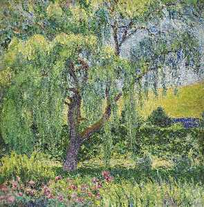 Giverny, Willow and Roses