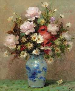Peonies and Anemones, (1984)