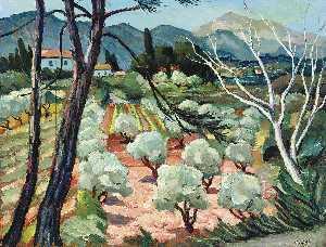 Trees at Provence, (1930)