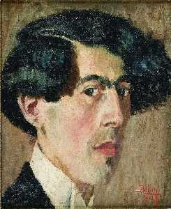 Self-Portrait of the Artist in His Studio, (1914)