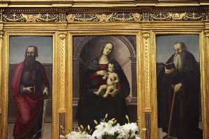Madonna and Child with St. Anthony Abbot and St. Paul the Apostle of the Jerome Pacchia, early sixteenth century