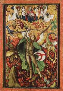 Descent into Hell, Archangel Michael fighting with Lucifer