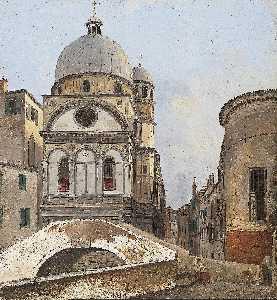 View of the Churches Maria dei Miracole and Santa Maria Nova in Venice