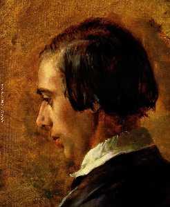 Tedesco ritratti di menzels bruder richard Inglese Ritratto Menzel's fratello Richard