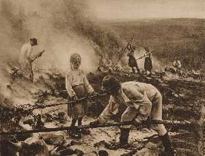 English Under the Yoke (Burning the Brushwood) Wage Slaves Burn Beating Suomi Raatajat rahanalaiset Kaski Svenska Trälar under penningen Sved Penningens slavar Kampen för tillvaron