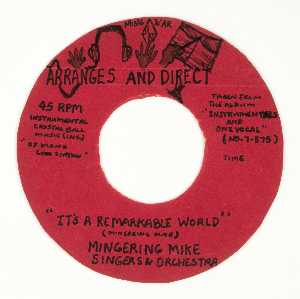 MING WAR ARRANGES AND DIRECT IT'S A REMARKABLE WORLD MINGERING MIKE SINGERS ORCHESTRA
