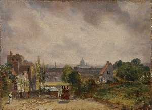 View of the City of London from Sir Richard Steele's cottage, Hampstead