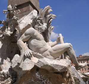 Fontana dei Quattro Fiumi (Fountain of the Four Rivers) Ganges